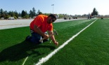 Field Turf is installed at PLU. (John Froschauer)