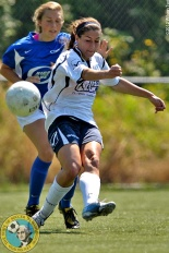 Megan Chapin scored four goals as Emerald City FC routed the Oregon Rush 10:0 on Saturday afternoon in Seattle at Interbay Stadium. (Wilson Tsoi)