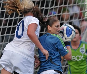 "Hope Solo: ""Hey, where's my league to play in?"""