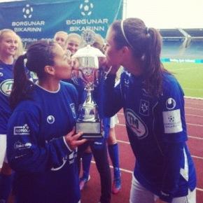 Sounders Women, Deines and Perez, Win IcelandicCup