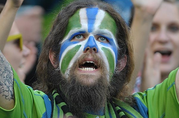 "Sounders ""Caveman Fan"" photo goes viral on Facebook with over 40,000 views"