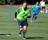 Eidur Gudjohnson is training with the Sounders this week. (Club photo)