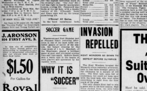 Seattle-area soccer at the turn of the last century