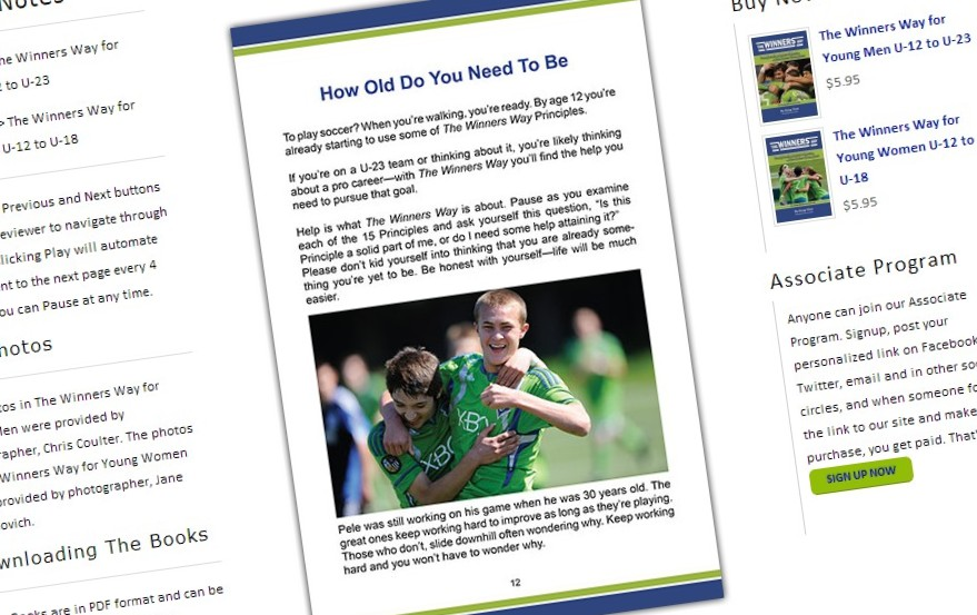 The Winners Way books endorsed by local soccerfolks