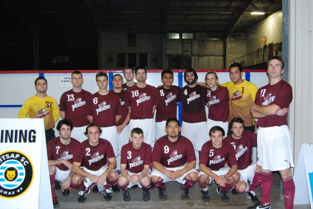 The Tumwater Pioneers made their historic PASL debut on Saturday night in Bremerton. (Madi Williamson / Soccer Boss)