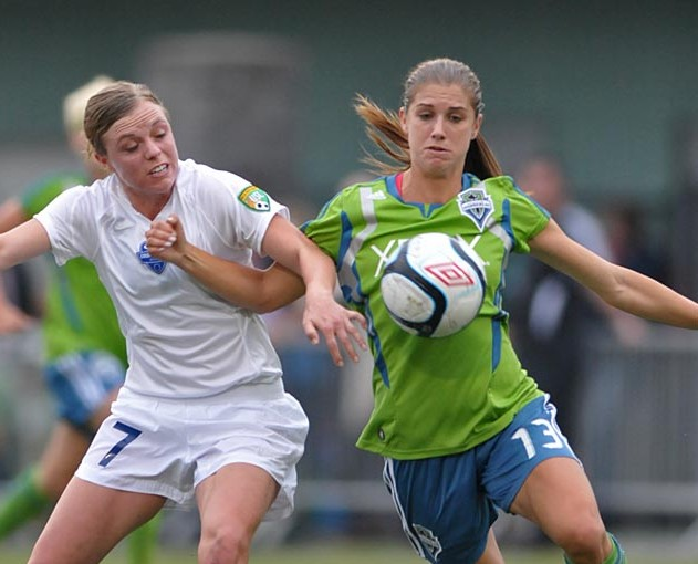 Picture Perfect: Alex Morgan with the Sounders Women