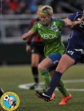 Picture Perfect: Megan Rapinoe with the Sounders Women