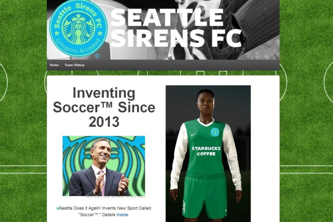 Portland women supporters strike early with Seattle Sirens parodywebsite