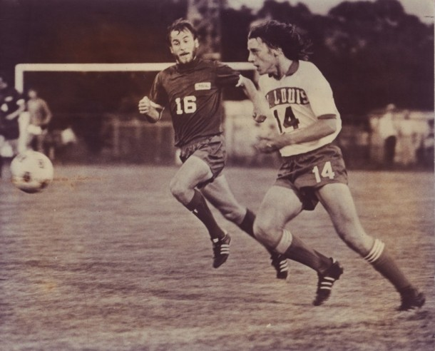 Webster (#16) with 1975 Sounders at St. Louis Stars.