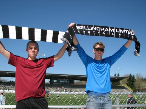 Bellingham United supporters at Starfire, 2012.