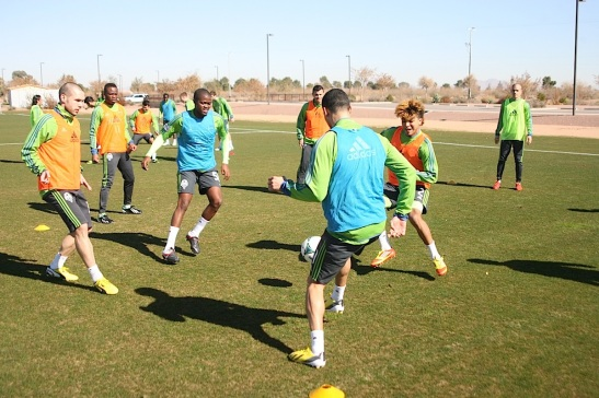 Sounders train in Arizona. (SoundersFC.com)