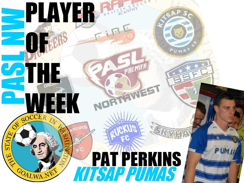 goalWA.net PASL NW Player of the Week: Pat Perkins, KitsapPumas