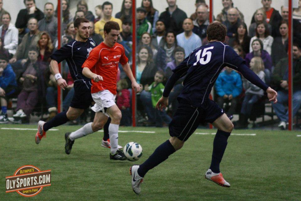 Kellan Brown scored four goals for the Rapids in Friday's thriller in Gig Harbor. (Brandon Sparks, OlySports.com)