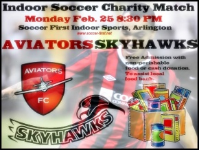 Indoor encore: Aviators, Skyhawks to play charity match Feb. 25