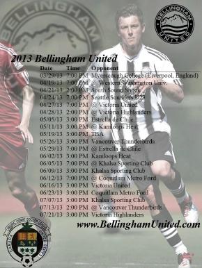 Bellingham United FC 2013 schedule takingshape