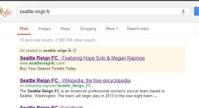 Reign FC using Google in search for ticketsales