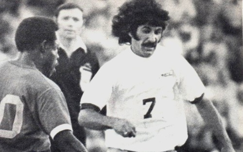 (Roy Sinclair with the Sounders in 1974-75. See his NASL Jersey page.)