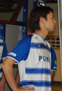 Pumas player Yuma Inagawa was seriously injured in a home match in January. The league is only now responding to the Pumas pleas for assistance. (Madi Williamson)
