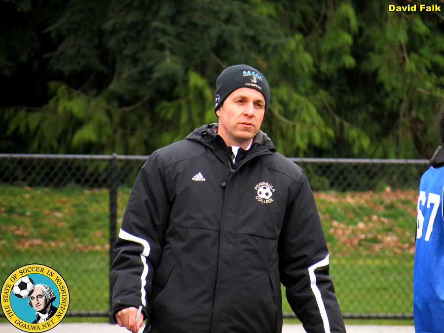 Andrew Chapman was back on the sidelines for the Kitsap Pumas during the club's recent invitational tryouts. He will assist James Ritchie in the PDL and coach in the club's youth program. (David Falk)