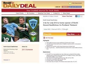 SeaWolves offer Daily Deal for home opener againstPortland