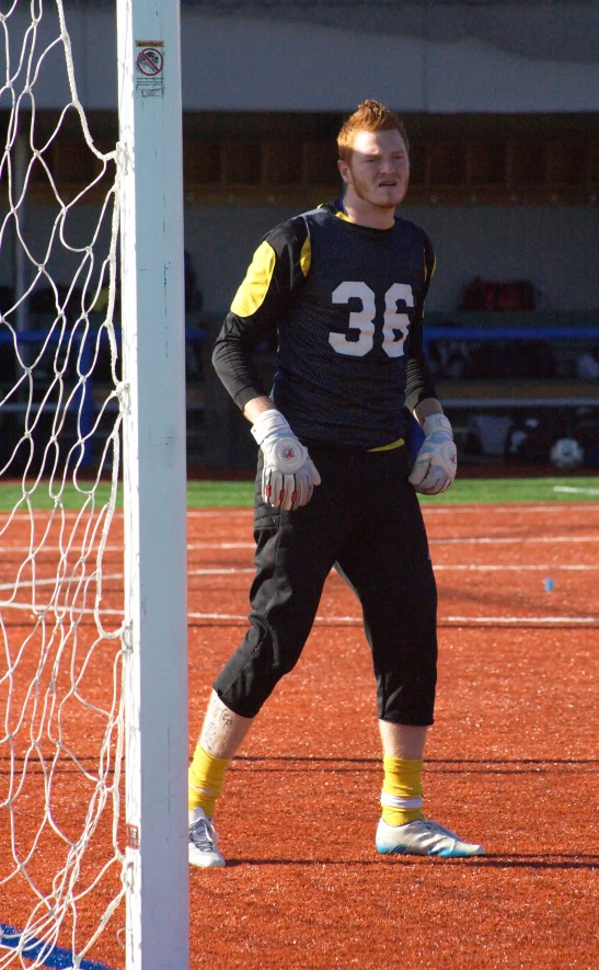 Evan Gaul continues on with the SeaWolves in goal after last weekend's open tryouts. (Joleen Sims)