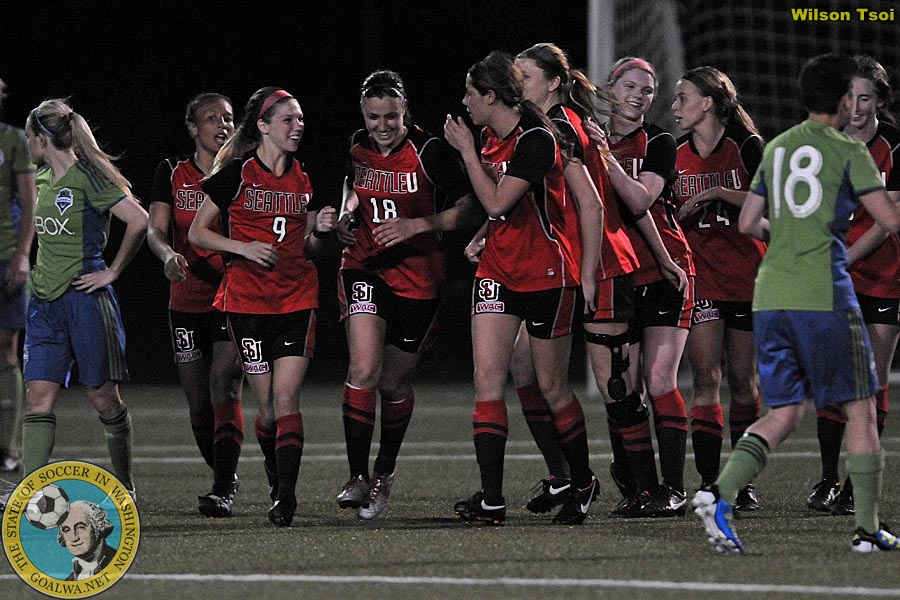 Picture Perfect Su Redhawks And Sounders Women Goalwa