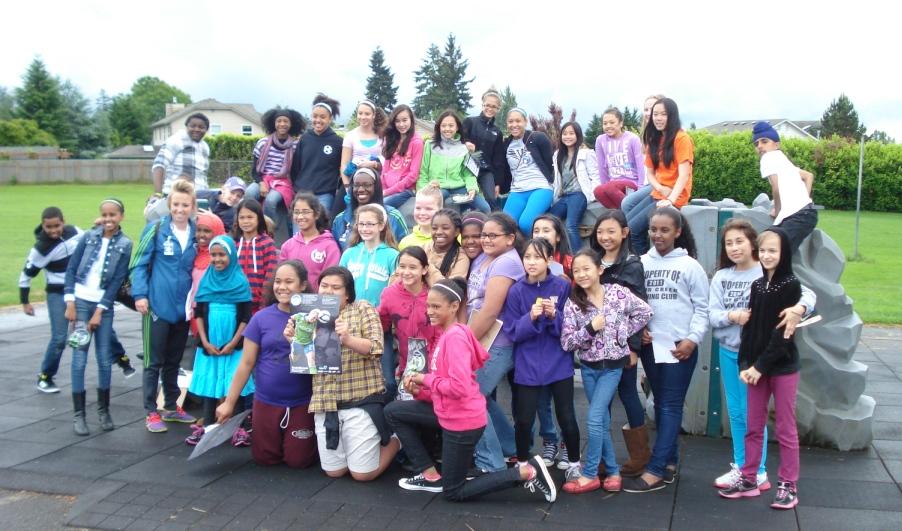 Sounders Women visit KentSchools