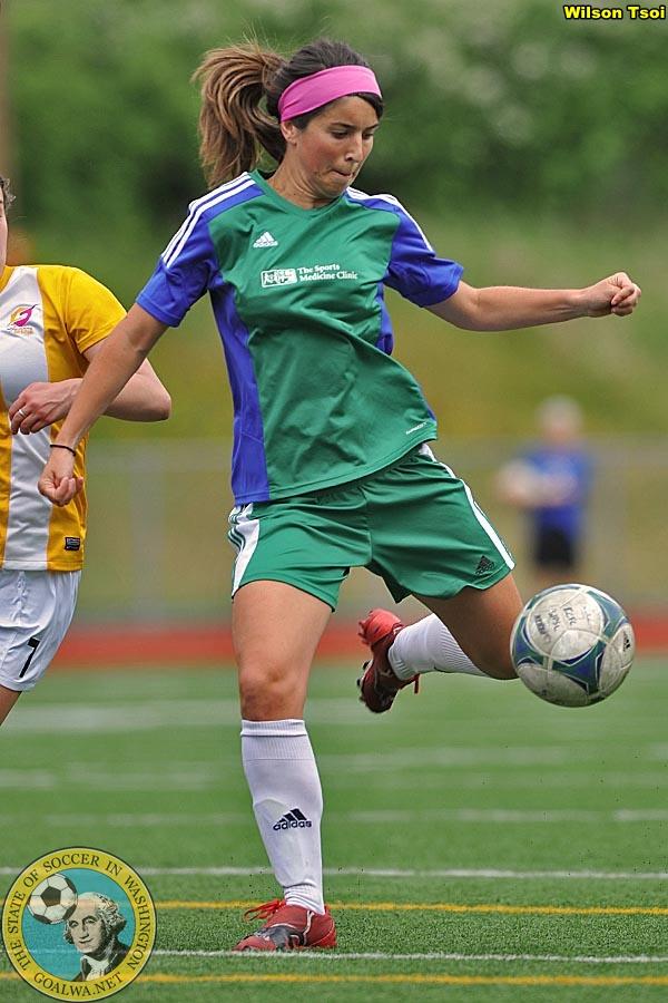Marina Galaz scored a hat trick on Saturday as Emerald City FC beat the Bend Timbers 4:0. (WIlson Tsoi file photo)