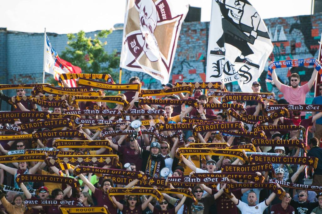 The amazing support for NPSL's Detroit City FC (Facebook)