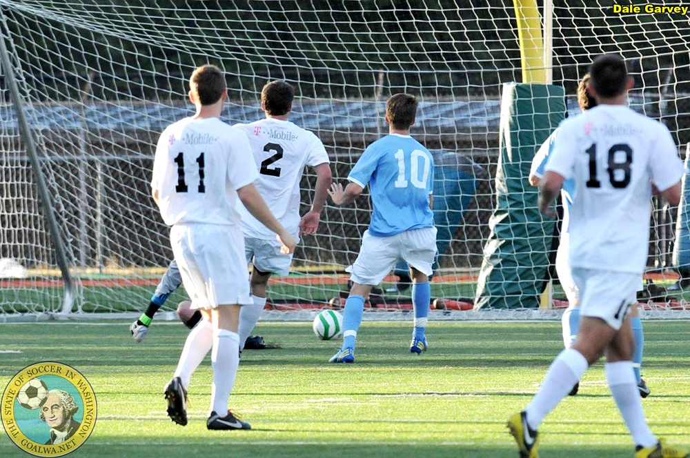 The winner: Brady Ballew's goal sneaks in for North Sound. (Dale Garvey)
