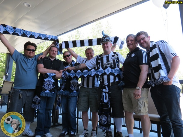 Bellingham United has a dedicated, club-specific group and supporter culture. (David Falk)
