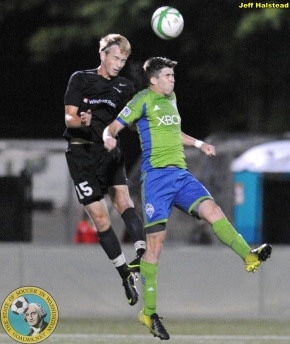 Sounders FC U-23 in Redmond Sunday night against Washington Crossfire