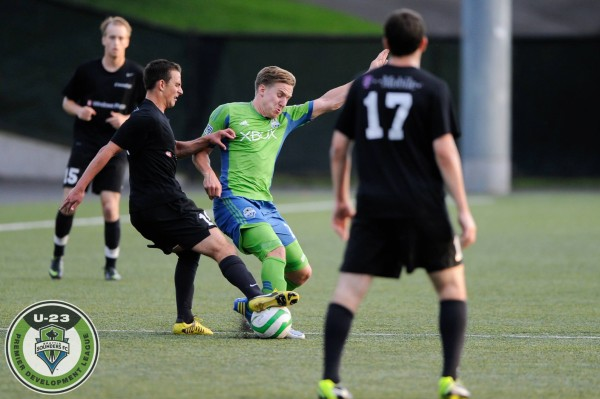 The Sounders U-23 and Washington Crossfire battled for 90 minutes before an unsual stoppage time own goal decided the match. (SoundersU23.com)