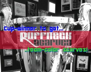 Ruffneck Cup 2013: Custom scarves designed for champion