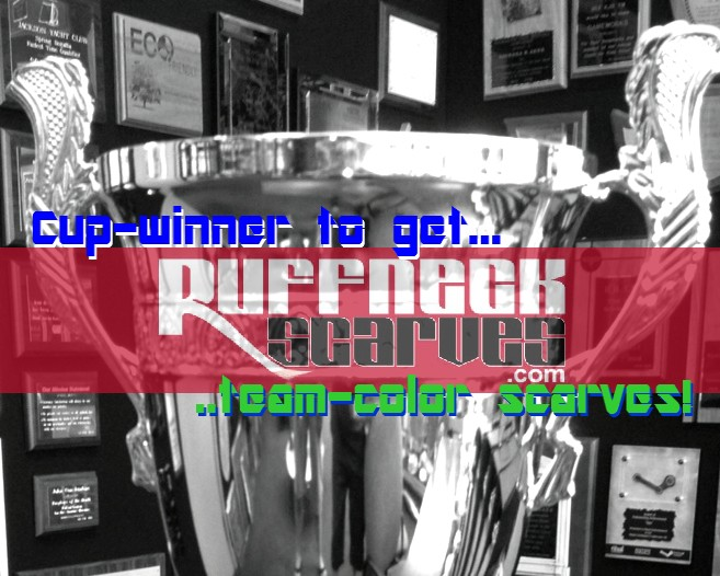 Ruffneck Cup 2013: Custom scarves designed forchampion