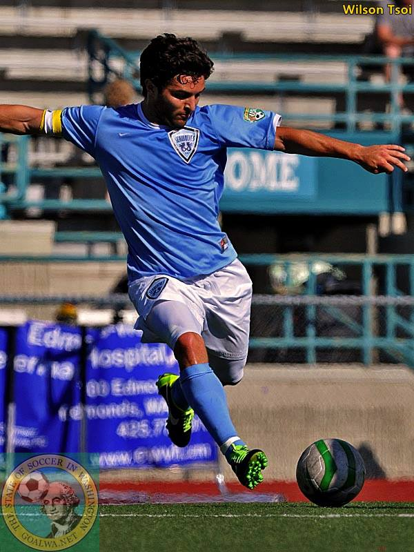 Brad Jacobson scored the winner as North Sound beat the Sounders U23 for the first time. (Wilson Tsoi)
