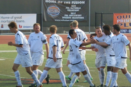 Founded in 2009, the Victoria Highlanders have advanced to the PDL national semis for the first time. (Club photo.)