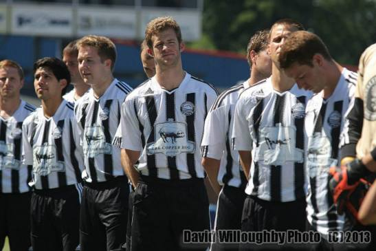 The Hammers of Bellingham United FC are the first officially accepted club in the Evergreen Premier League. (David Willoughby)