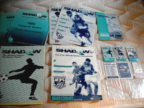 Fan memorabilia from the original Shadow years. (Jeff Lageson)