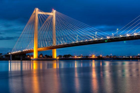 The Tri-Cities Cable Bridge. (Riley Lamie)