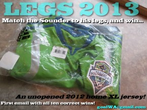 Match Sounders with their legs, win home jersey!