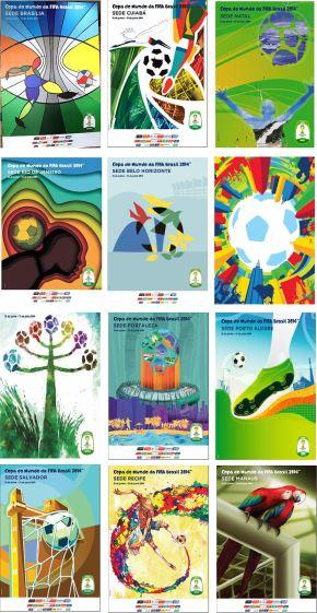 2014 FIFA World Cup Brazil host city postersrevealed