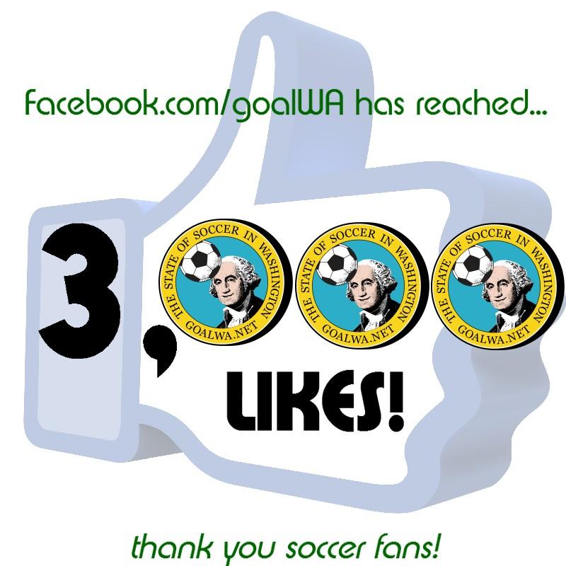 goalWA Facebook passes 3,000 likesbenchmark
