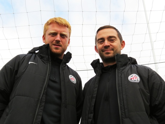 Mitchell James (left) and Kevin Skinner coach for WestSound FC and will take the pitch in 2014 as players for the EPLWA WestSound Men. (David Falk)