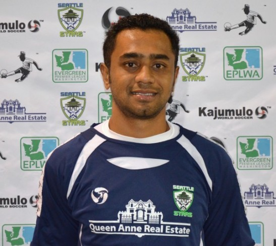Fiji soccer star Kamal Hassan is playing with Seattle Stars FC ahead of their 2014 debut in the EPLWA. (Seattle Stars photo.)