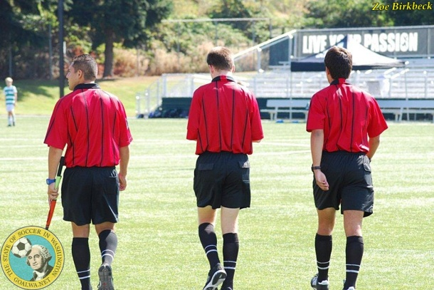 Referees wear red. Power and control?