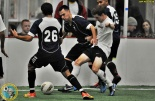 Yamhill County (dark kits) battled the Tacoma Galaxy on Saturday night. (Jeff Halstead)