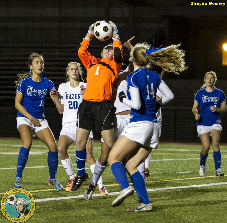 Picture Perfect: Shayna Gosney shoots Seattle Prep v. Hazen in WIAA Playoffs