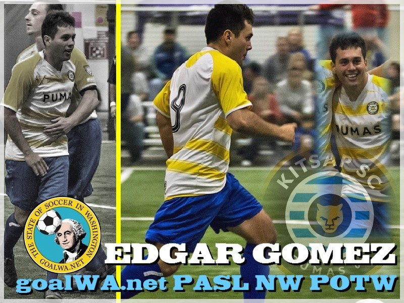goalWA.net PASL NW Player of Week: Edgar Gomez, Kitsap Pumas