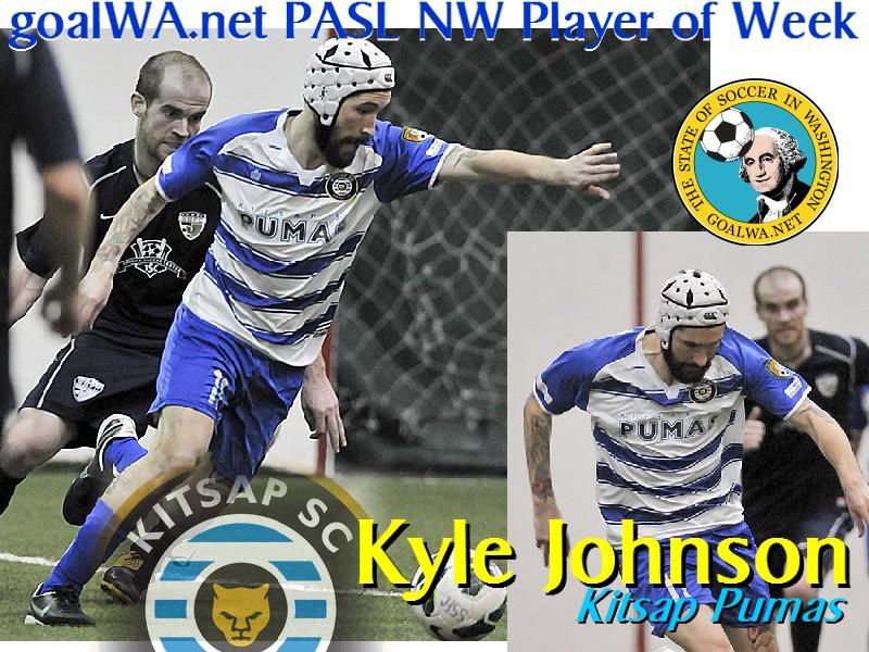 goalWA.net PASL NW Player of the Week: Kyle Johnson, KitsapPumas